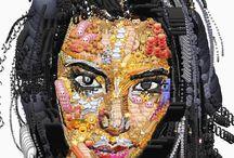Yung Jake's Celebrity Emoji Portraits / Kim Kardashian, Larry David, and more: http://thecreatorsproject.vice.com/blog/yung-jake-is-making-emoji-portraits