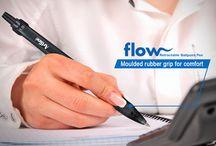 Flow Retractable ballpoint pen / Makes writing better