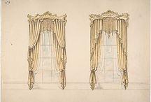 Historia / Imágenes de cortinas confeccionadas en épocas pasadas.