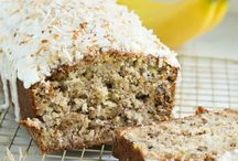 Coconut iced banana bread