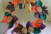 Autumn Crafts Challenge / Entries to our Autumn Craft Challenge - the prize is a box of Card from the mill!  Plus you can enter just by leaving a comment and sharing the blog post!