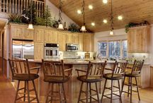 """Kitchen Decorating Ideas / It's called the """"heart of the home"""" for a reason!  Don't neglect the kitchen - let Interiors show you how to bring color and balance and knockout style to yours!"""