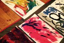 art-thérapie / créations de dessins, peintures, modelages des participant(e)s aux ateliers créatifs et/ou en art-thérapie. Voir mon site : artherapie31.com