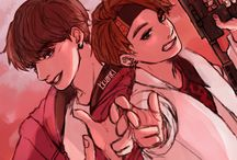 fanarts; all kpop and kpop ship