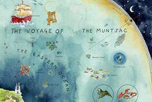 """'Mapas da Imaginação' / """"A língua é como uma terra, os parágrafos são distritos, as frases são ruas e as palavras são apenas linhas e curvas construídas [...] as letras são como canhões selvagens e mares caóticos que o escritor mapeia em palavras e depois em frases e depois em cenas."""" - Peter Turchi"""