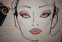 My creation!!  / Face chart!! Bridal look!