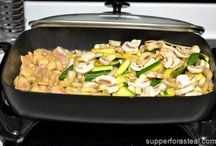 Electric Skillet cooking.