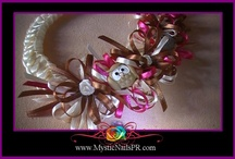 Cute Hair Bows for Girls :::.. ☆ Lazos para Niñas / For orders, visit my website. Thank you!!! ☆ XOXO Jennifer Perez of Mystic Nails ☆ www.MysticNailsPR.com