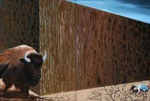 The walls / Acrylic and mixed media