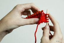 Knit knack / Learning to knit.