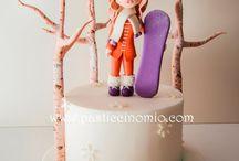 Торт со сноубордистом