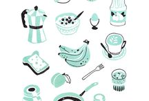 illustrations 3. : food