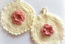 Crochet potholders / Crochet potholders Presine all'uncinetto