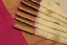 White Elegance!!! / Elegant banaras sarees in half whites, beige, golds!!!