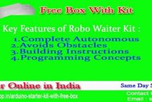 Robotic DIY Kits Online / Roboshop offering DIY kits in which you can get kits like arduino starter kit, Bluetooth controlled bot, gesture controlled using IR Sensor and many more other kits with tutorial & phone support. To check & buy these DIY kits visit online  @ http://goo.gl/AfK2VX