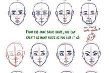 Face shapes art