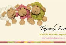 Ovejitas / Como hacer una oveja a crochet
