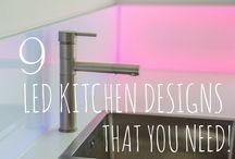 9 LED KITCHENS DESIGNS YOU NEED! / 9 LED Kitchen Designs You'll Love! http://www.creoglass.co.uk/kitchen-glass-splashbacks/led-splashbacks/