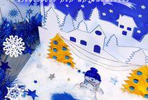 Progetto #41 / [NATALE FAI DA TE] Tutorial Biglietto Pop Up Natalizio  Per l'ultimo progetto dedicato a questo Natale, propongo questo bellissimo Biglietto pop up natalizio con un paesaggio innevato e un cielo stellato!   Un Biglietto per Natale fai da te, semplice da creare, anche insieme ai Bambini.   Oltretutto può essere anche un idea carina da aggiungere ai Regali di Natale con una dedica personalizzata !