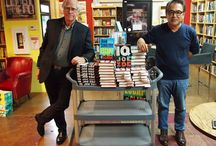 Sandford & Ide / John Sandford came to sign his latest Virgil Flowers book, Escape Clause, and to introduce us to debut novelist Joe Ide and his book, IQ.