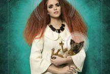 Escapulario Fall Winter 2013 2014 / Tablero con imágenes de la colección Otoño Invierno 2013 2014 de la marca de moda española Divina Providencia