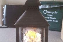 Personalised Lanterns / We have some wonderful personalised Christmas and other lanterns.