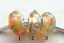 Glaskralen / Zelf gemaakte glaskralen