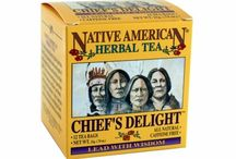 """Chief's Delight / Our all natural blend of several berries and their leaves make this a light, berry flavored hibiscus tea that is great for relaxation and meditation.  Got a problem?  Brew this tea, sit back and sip and """"Lead with Wisdom."""""""