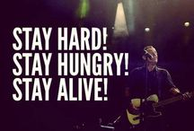 Stay hard stay hungry stay alive