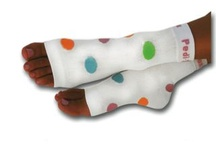 Four Color Polka Dot Fun / California Summer Weight {lite} Pedi-Sox™