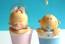 Cerámica baby shower y bautizo