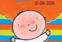 Geboortekaartjes Clavis / Prachtige geboortekaartjes gebaseerd op de kinderboeken van diverse ontwerpers, zoals Leen van Durme, Guido van Genechten, Pauline Oud en Liesbet Slegers.