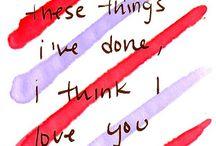 favorite lyrics! / by Maria Champion