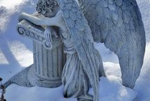 Cemetery Statues & Headstones / To be gazed upon with respect.... / by Jennifer Thompson