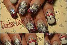Winter nail art
