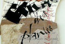 Stephanie Devaux / Collage calligraphy