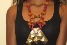 Collier Amulette Khomissar Touareg / Collier africain, Collier porte bonheur, Copal, Koffi et Bronze