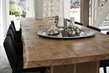 boomstam tafel en meubels
