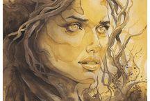 Akvarel - portrét
