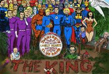 My Album Covers #comicsheroes /  Famous album covers recreated with comic book superheroes