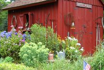 POTTING SHEDS that make me smile / by Lynn Smith Barbadora(Painting Thyme Needfuls)