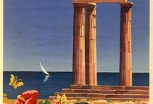 Greek Vintage Travel Posters