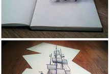 Drawing ideas / http://www.malirske-platno.cz/vytvarne-potreby-kresleni  Zajímavé inspirace pro kreslení tužkami či barvičkami.