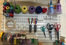 Craft Room Peg Board / Craft Board Peg Board Storage Solutions.