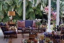 Decorating patios