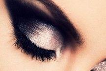 Inky black eyes