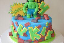 Superhelden voor op taart