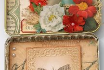 altered books, assemblage, little boxes, mini papers, totums