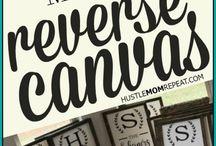 Reverse canvas