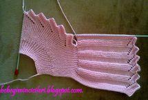 pletení / vesta